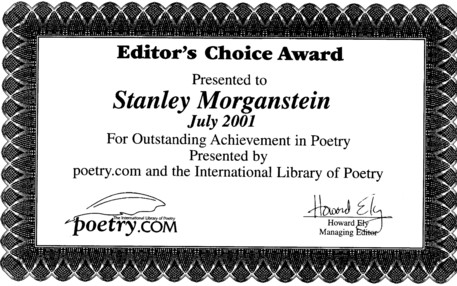 DISORIENTATION POETRY AWARD
